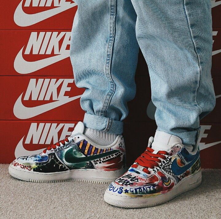 nike air force 1 colored sharpie