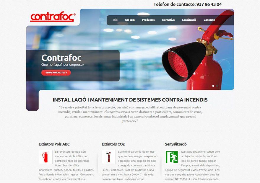 Empresa de equipos de extinción de incencios. Diseño de página web con sus servicios. http://www.dipixel.es/