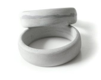 Simple Gray Concrete Bangle