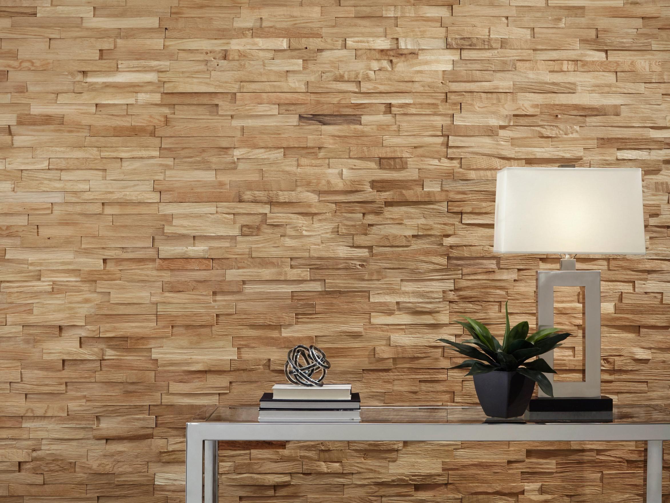 Dimensions Hardwood Natural White Oak Wall Plank