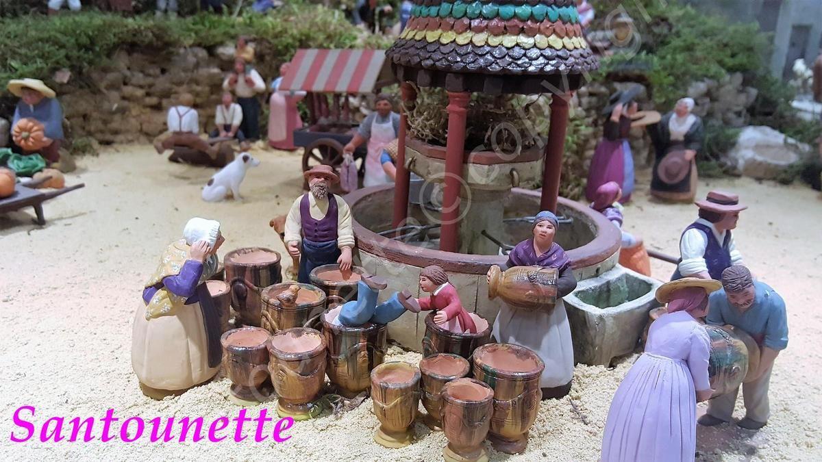 Les santons de sylvie de marans salon des santonniers d for Creche salon de provence