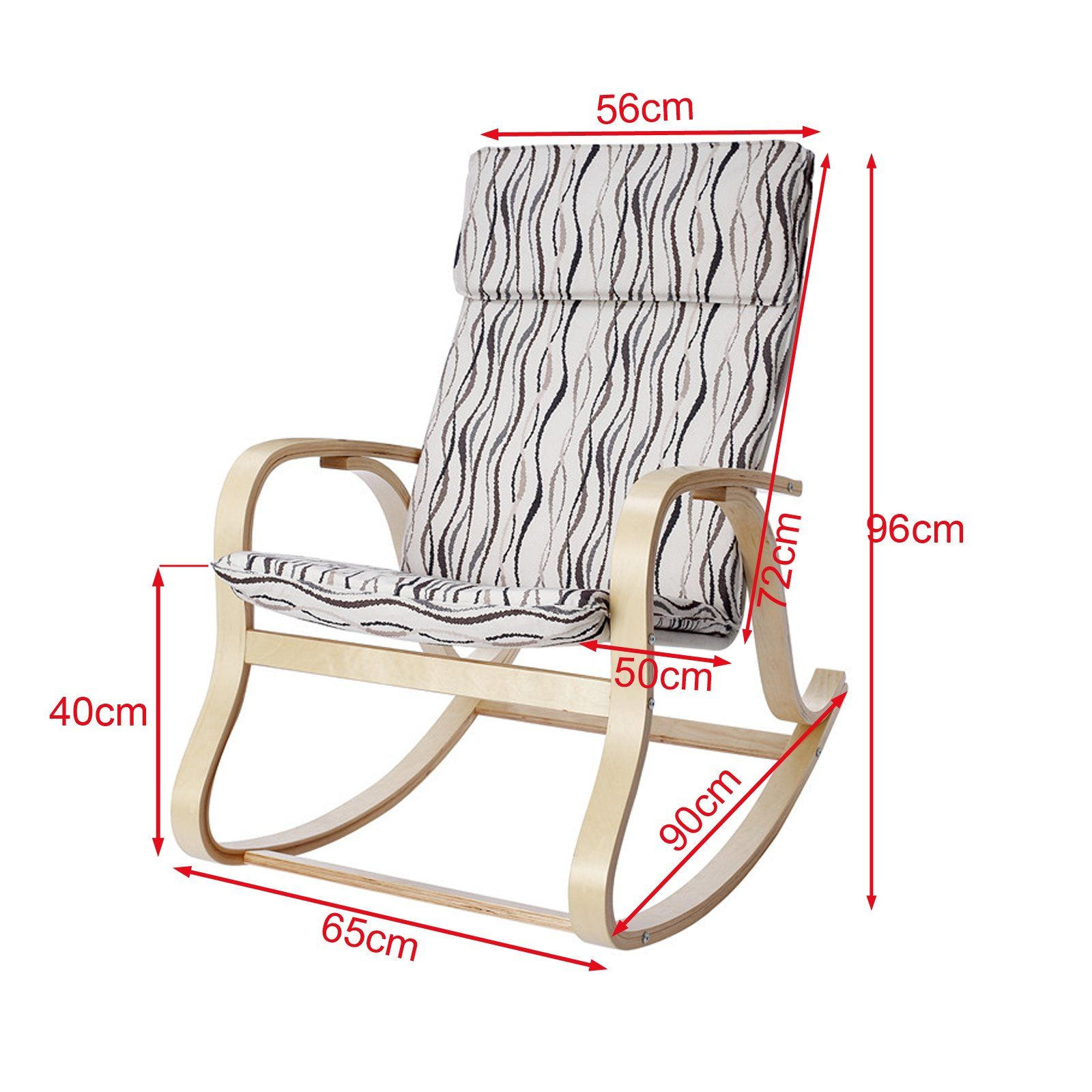 Haotian FST15R Comfortable Relax Rocking Chair Lounge