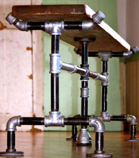 bank aufgearbeiteten holz verzinktem von hammerheadcreations crate pinterest. Black Bedroom Furniture Sets. Home Design Ideas