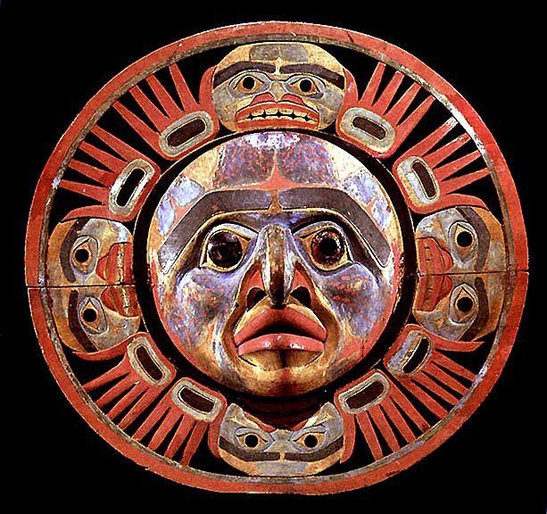 Sun mask, Northwest coast American Indian