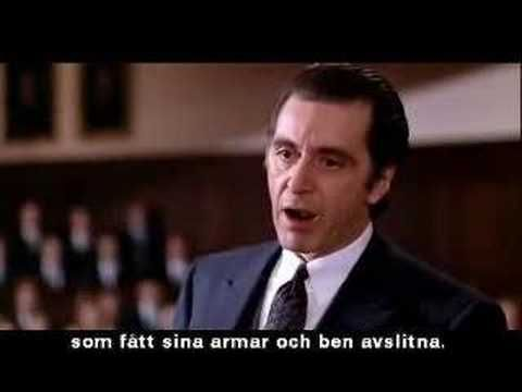 Scent Of A Woman Inspirational Movies Best Speeches Al