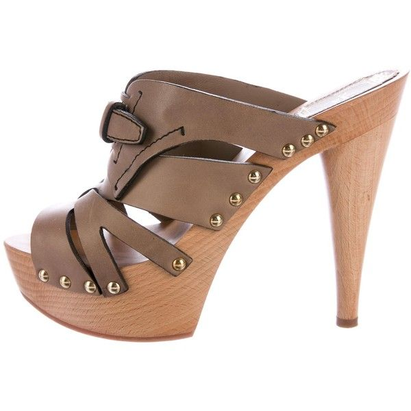 pay with paypal cheap price cheap sale shop for Christian Dior Leather Platform Sandals PJyBYX4bb