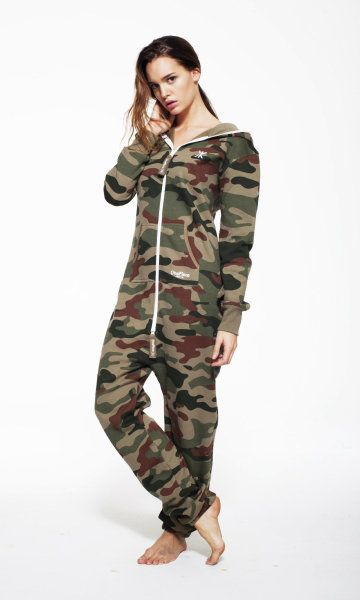 This awesome OnePiece Camoflage would be perfect for winter. PERFECT PJ'S.