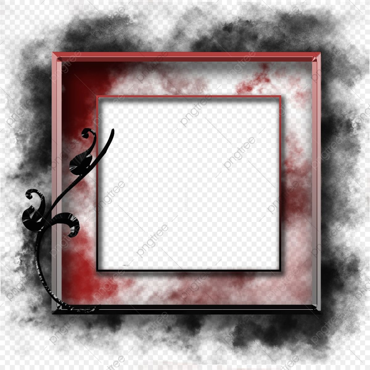 Smoke Floats On The Bright Red Frame Frame Border Sign Png Transparent Clipart Image And Psd File For Free Download In 2020 Red Frame Watercolor Flower Illustration Clip Art