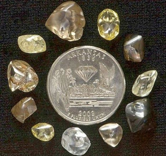 The Arkansas Diamond Mine at Crater of Diamonds State Park has a policy of finders keepers meaning the diamonds you find are yours to keep