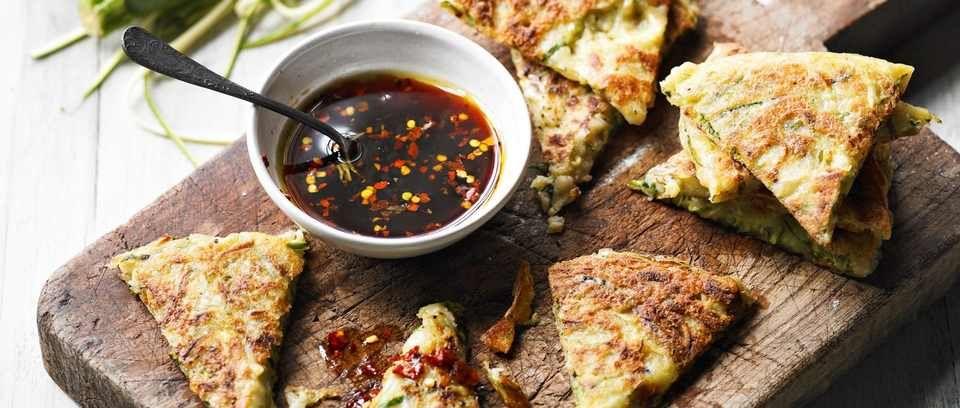 Ideas For Dinner Party Starters Part - 36: Easy Idea For A Dinner-party Starter. Give A Courgette Fritter A Korean-