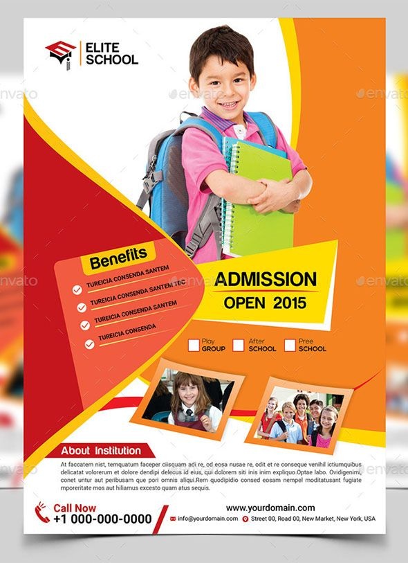 Junior School Flyer Template Print Fitness Pinterest Flyer