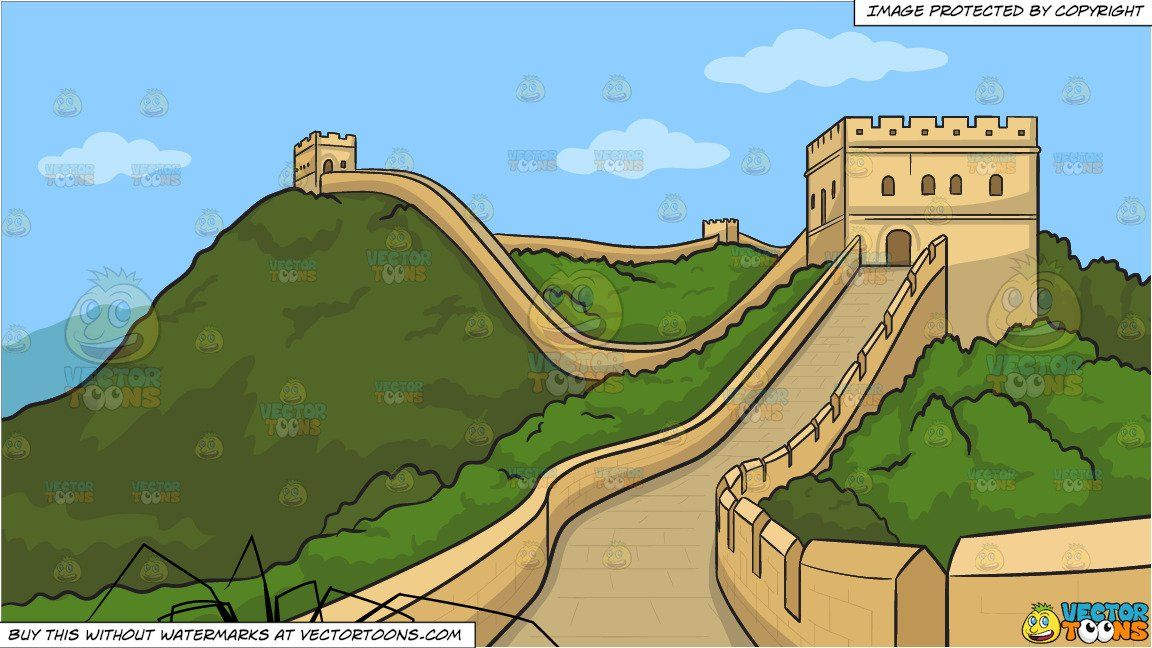 Daddy Long Legs Spider And The Great Wall Of China Background
