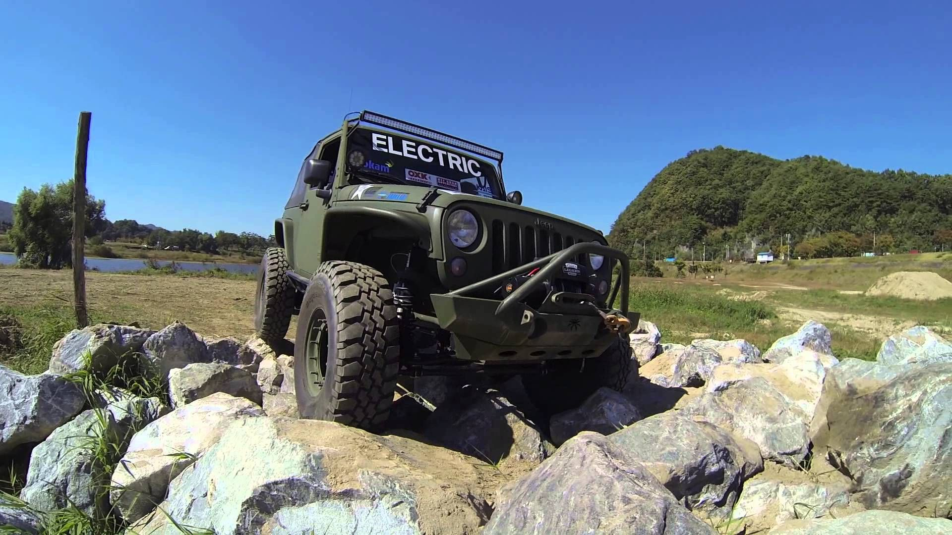 Jeep Jk Wrangler Electric Vehicle Conversion Rock Crawling Car