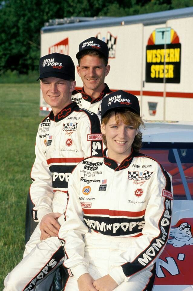 Dale Earnhardt Jr with his sister Kelly and his brother ...