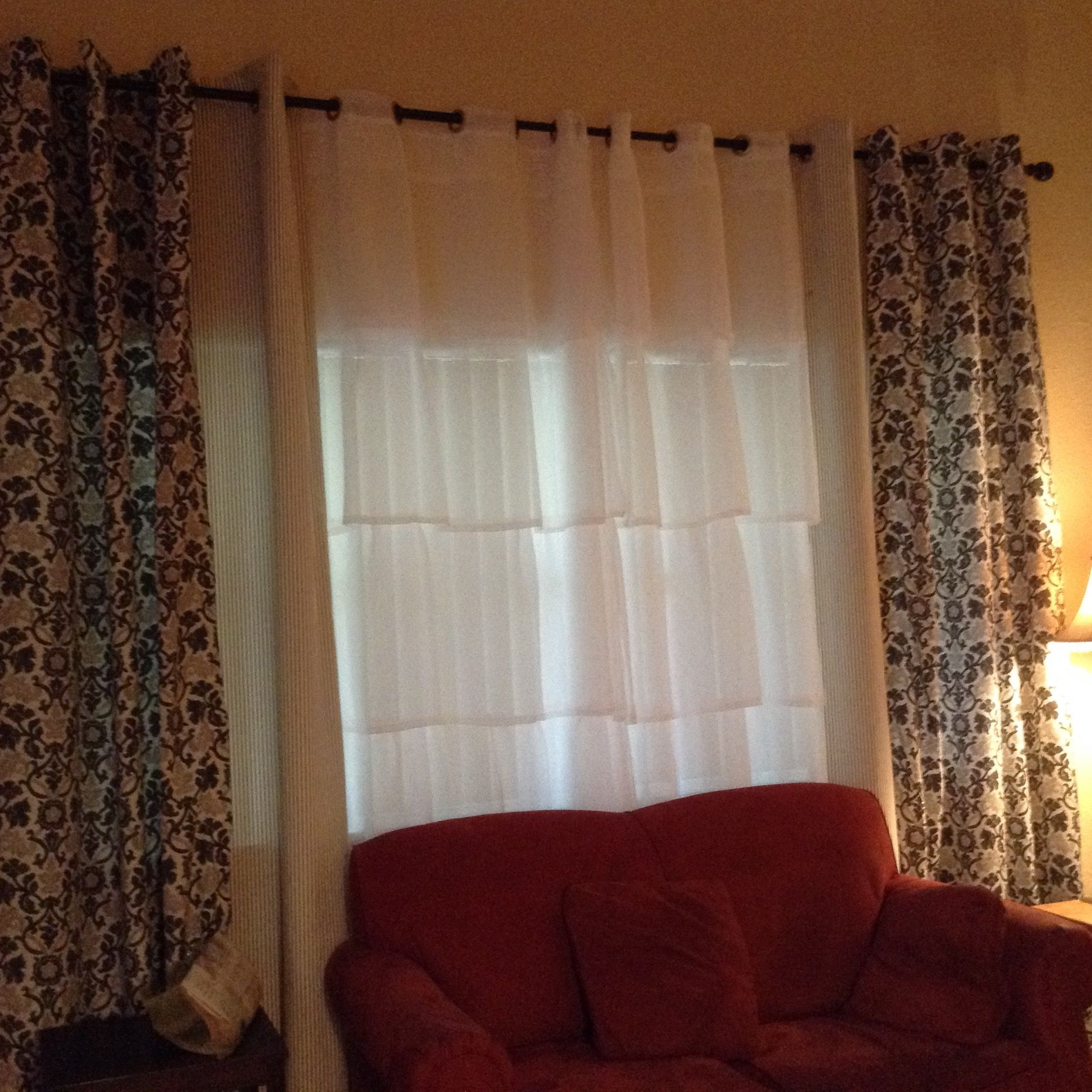 Curtains For The Double Windows
