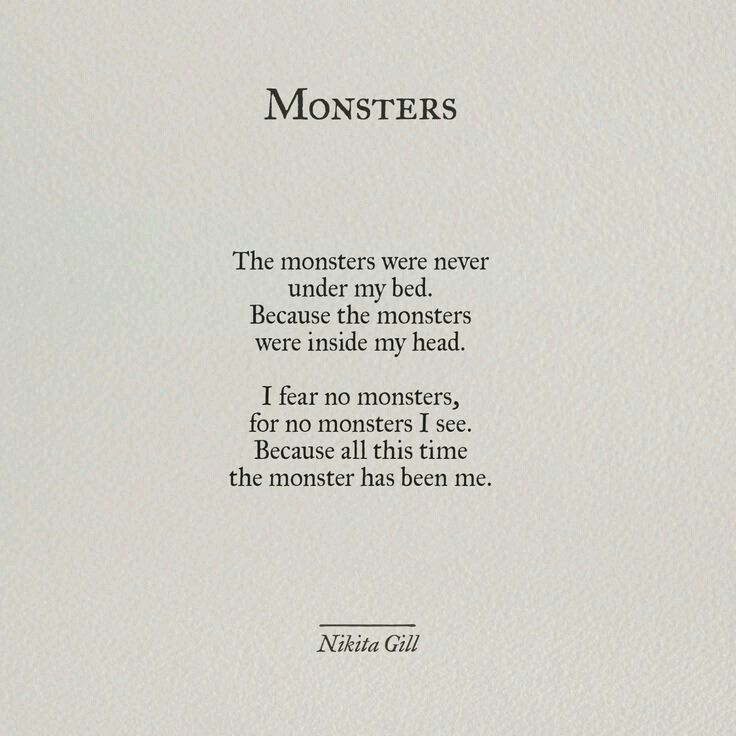 Monsters Poeme Et Citation Citation Et Belles Citations