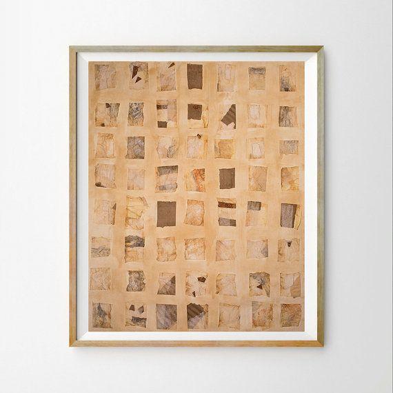 Brown paper art print Scandinavian wall art decor Neutral home décor ...