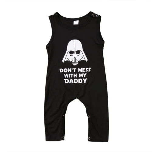 Newborn Baby Girls Boys Kids Sleeveless Romper Don't Mess My Daddy Jumpsuit Outfits #babygirlhairstyles