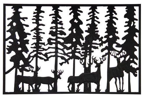 Best Pure Glory 44 W X 29 H Deer Cast Iron Railing Panel Cast 400 x 300