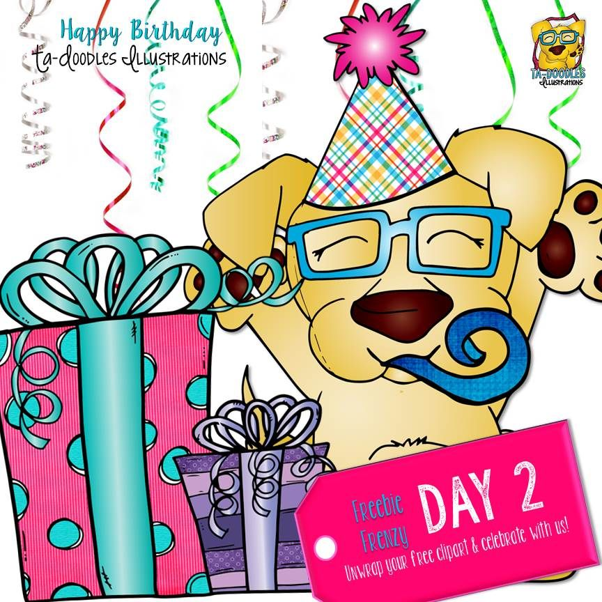 Birthday Surprise Day 2 Clipart Freebie | TpT FREE LESSONS