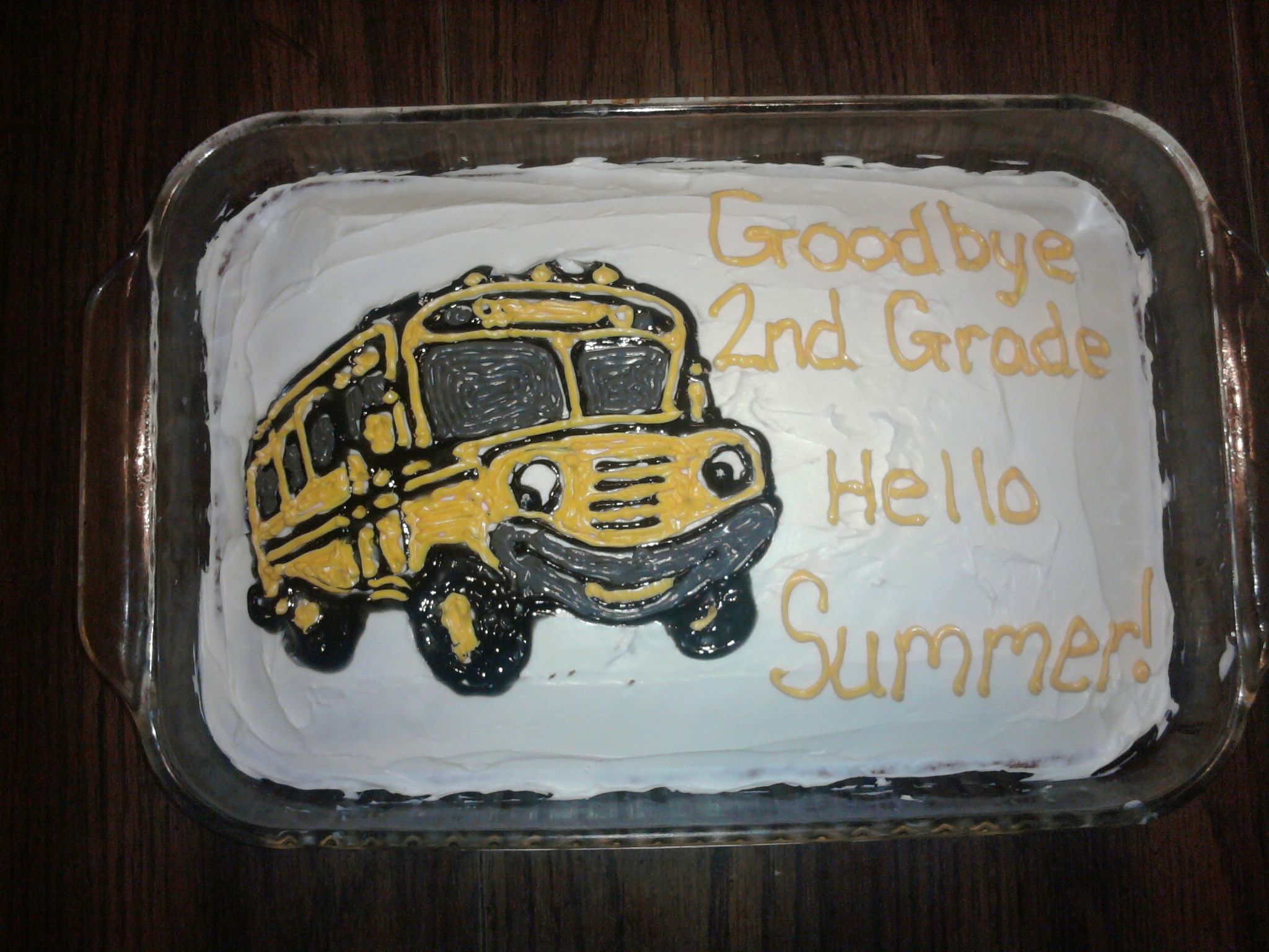 School Bus Cake for the last day of school 2011