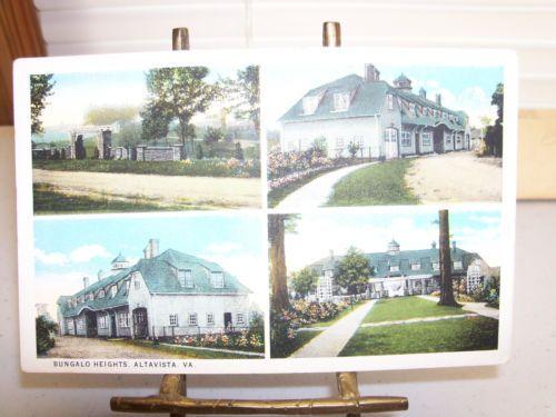 Vintage-W-E-Burgess-Scottsville-Va-Postcard-Of-Bungalo-Heights-Altavista-Va