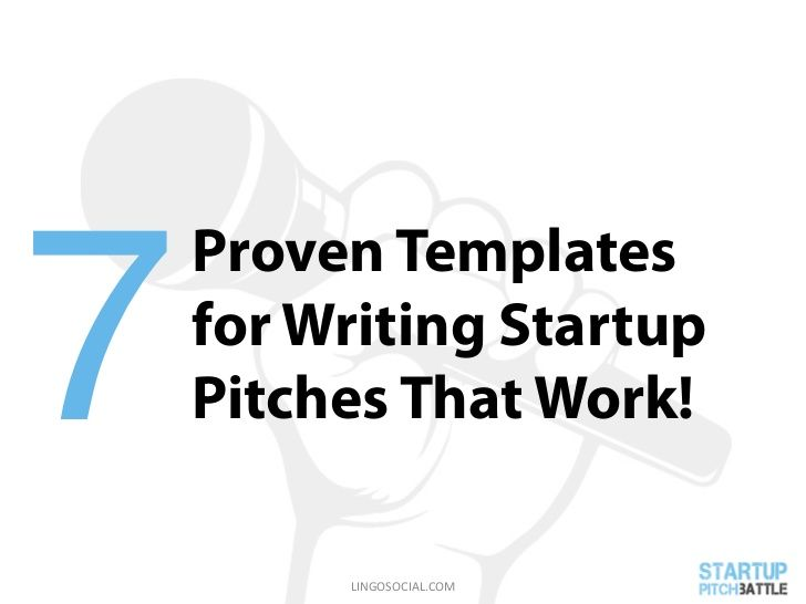 Startup Pitch Battle 7 Proven Templates