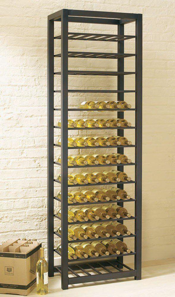Amazon Com Tag Trio Tall Steel 84 Bottle Wine Rack Free Standing Wine Racks Wine Rack Modern Wine Rack Wine Rack Storage