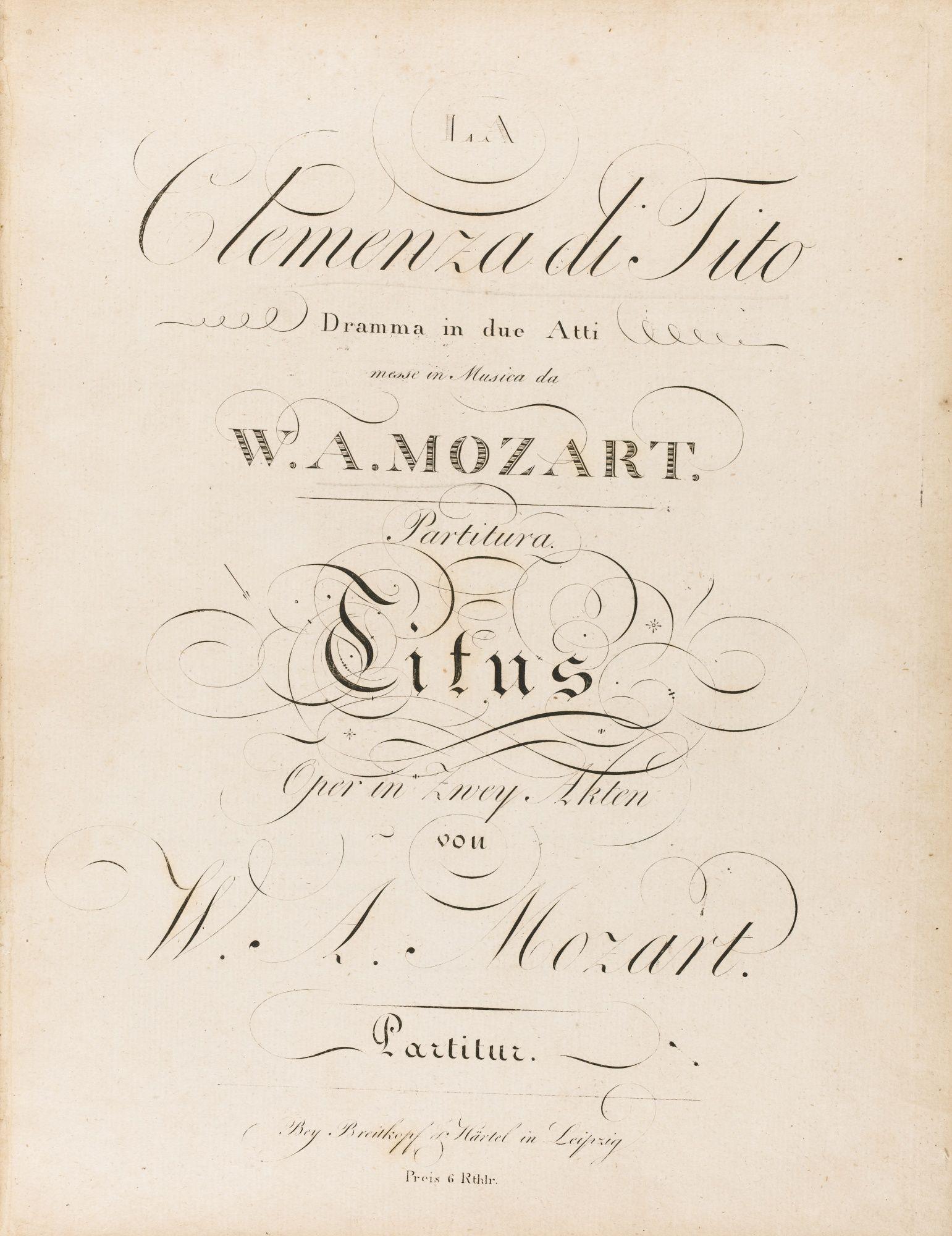 Partition Opera Mozart