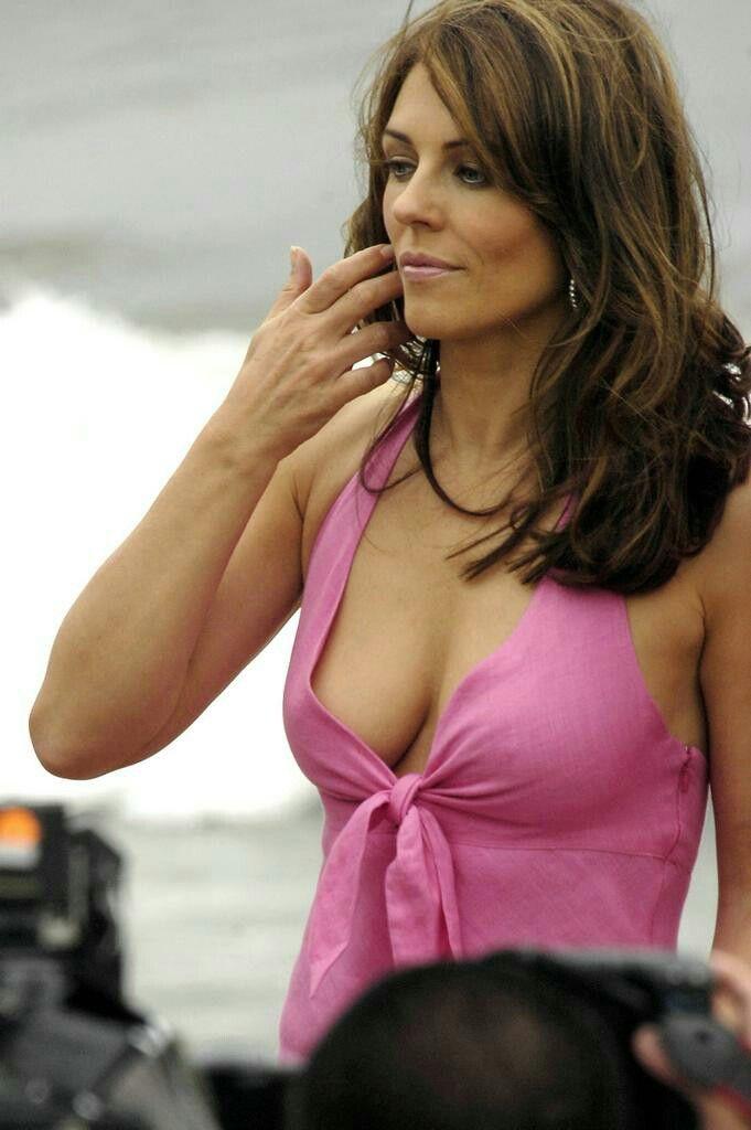 Image result for elizabeth hurley cleavage