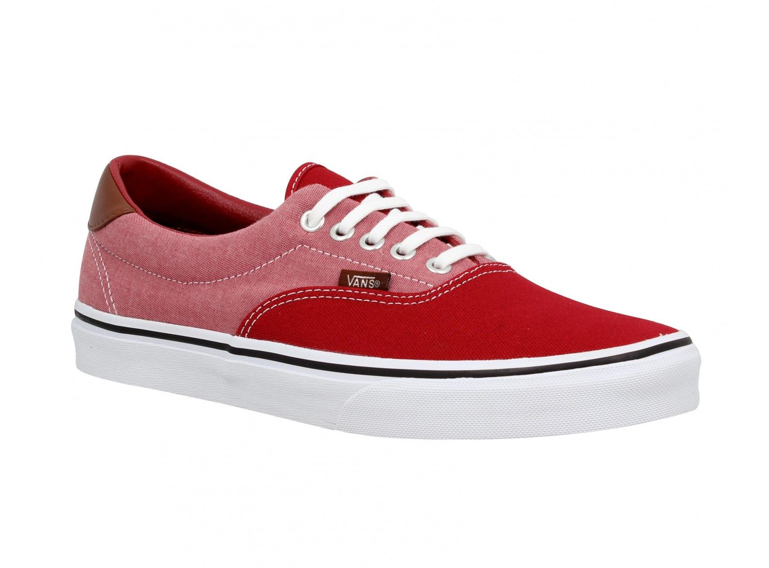 Era 59 Chaussures Femme Toile Chambray Vans Rouge RAwgqdRx
