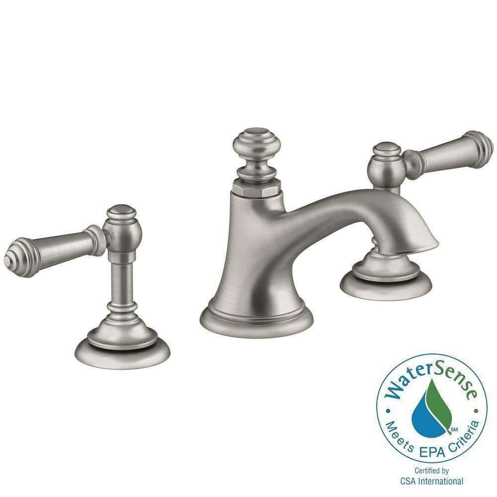 KOHLER Artifacts 8 In. Widespread 2 Handle Bell Design Bathroom Faucet In  Vibrant Brushed
