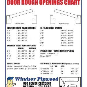 32 Prehung Interior Door Rough Opening