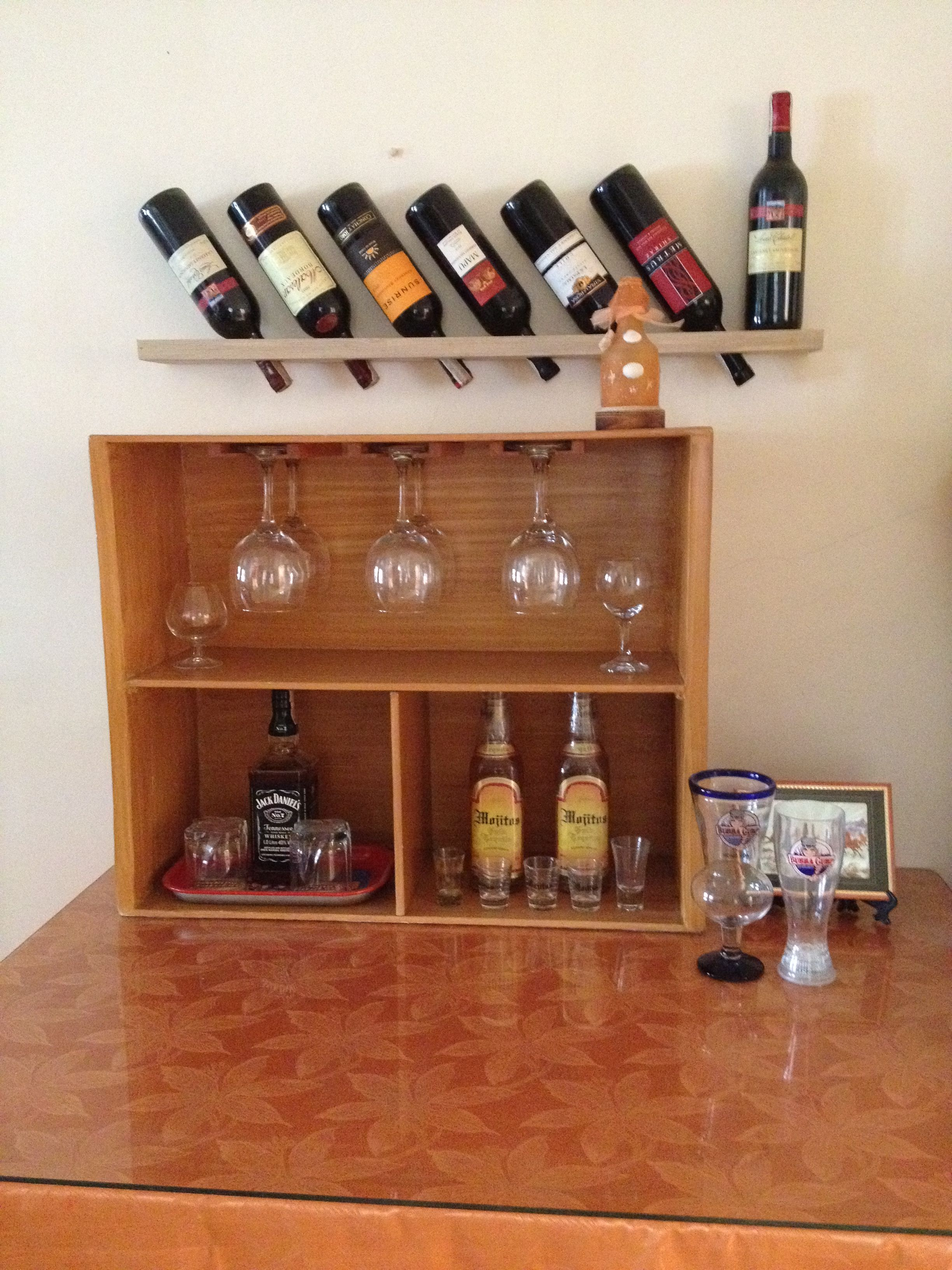 Diy Wine Rack Minibar My Cute Projects