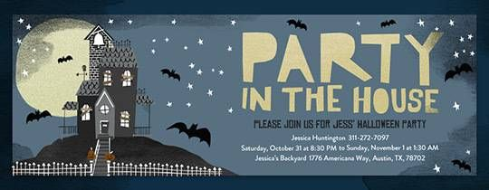 Halloween Free Online Invitations Halloweenie Modern Retro Ideas