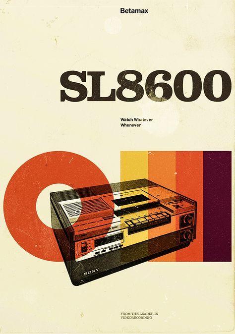 Retro style poster van een SL8600