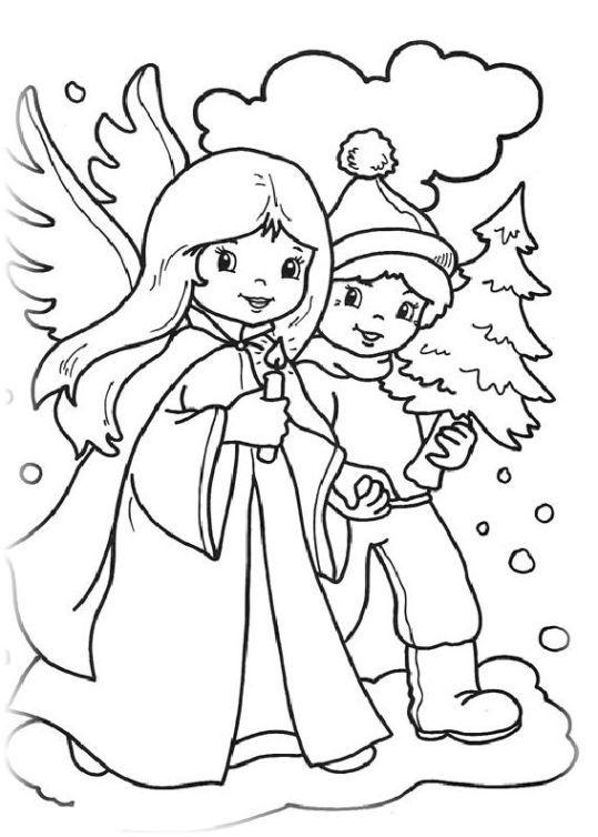 Ausmalbilder Fur Kinder Neujahr Und Weihnachten 5 Weihnachtsmalvorlagen Ausmalbilder Engel Zum Ausmalen