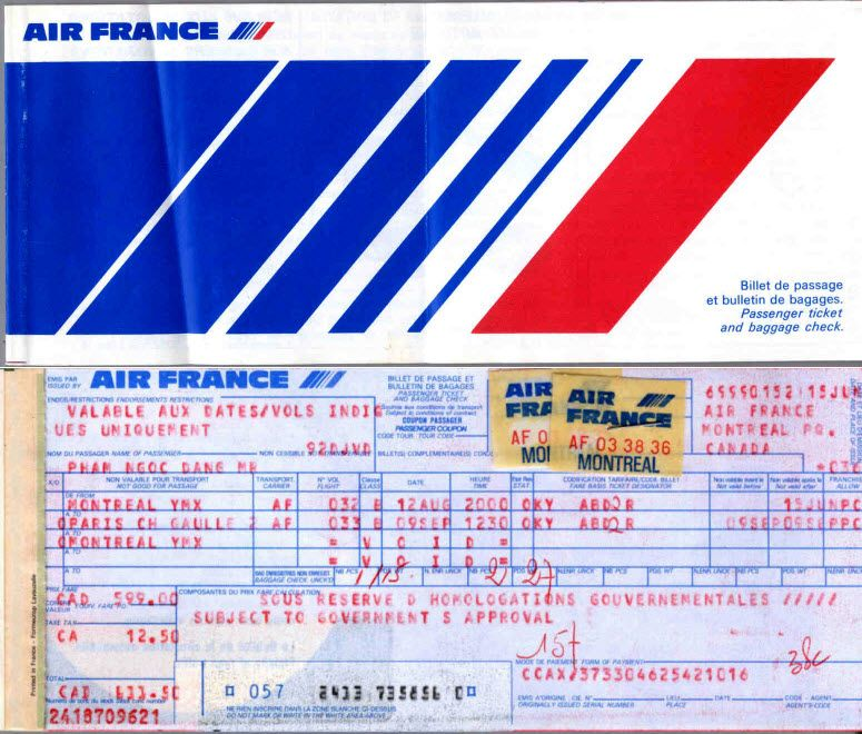 AF 1983 Air France Dangu0027s Montreal Mirabel YMX-Paris CDG-Montreal - new air france world map flight routes c.1948