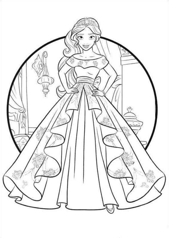 Coloring Page Elena Of Avalor Princess Coloring Pages Coloring Books Disney Coloring Pages