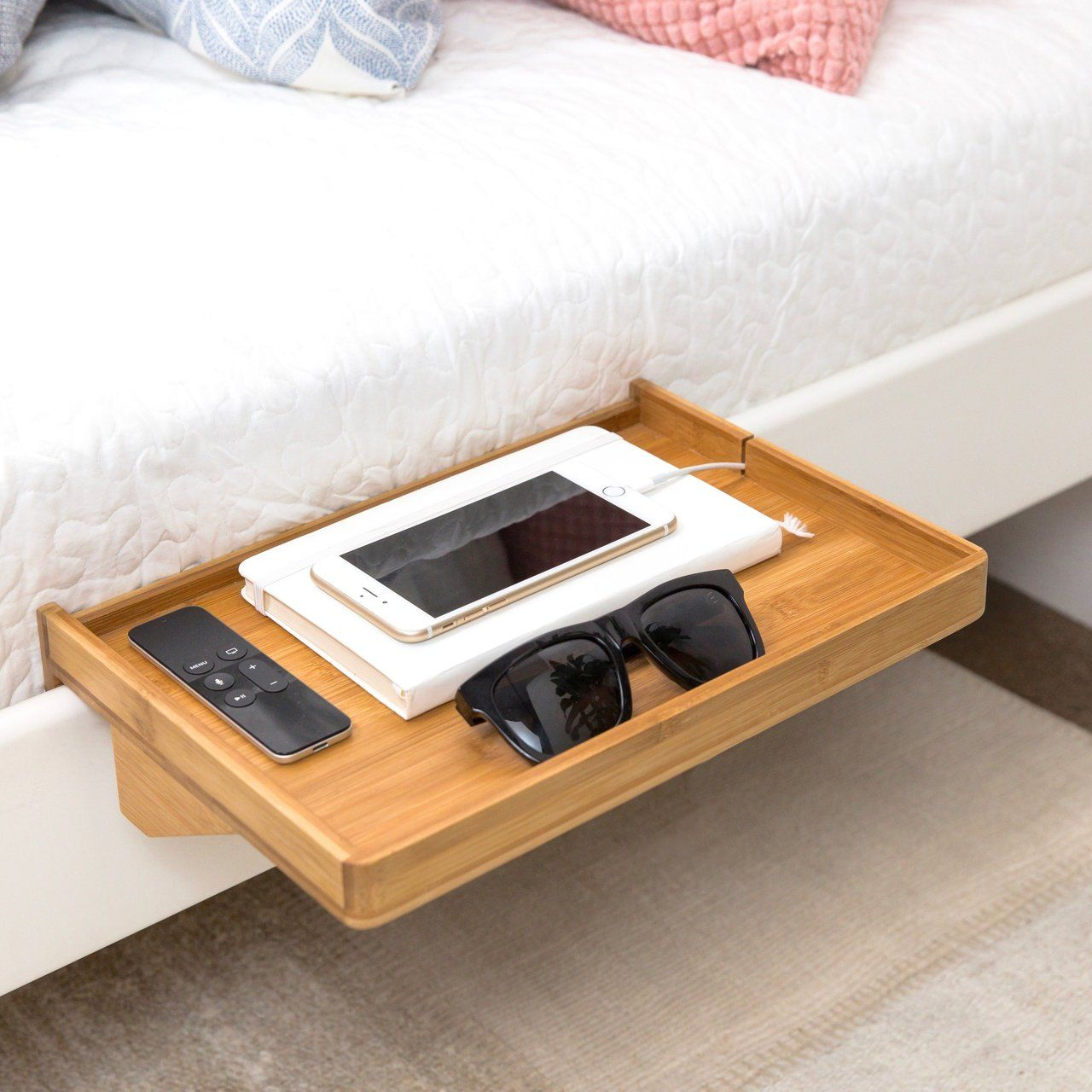 Loft bed organization ideas  BedShelfie Minimalist Nightstand minimalistic nightstand shelf