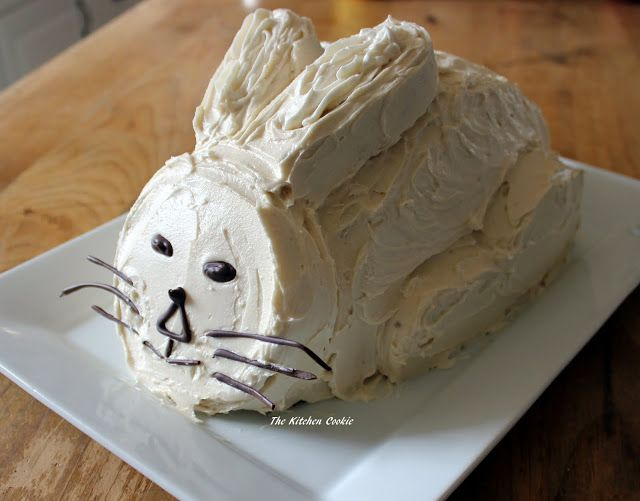 TheKitchenCookie: Chocolate Bunny Cake with Caramel Buttercream Icing