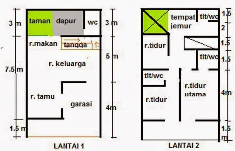 Desain Rumah Minimalis Type 21 2 Lantai Cek Bahan Bangunan