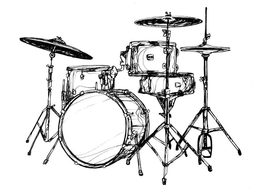 Image Result For Drums Drawing