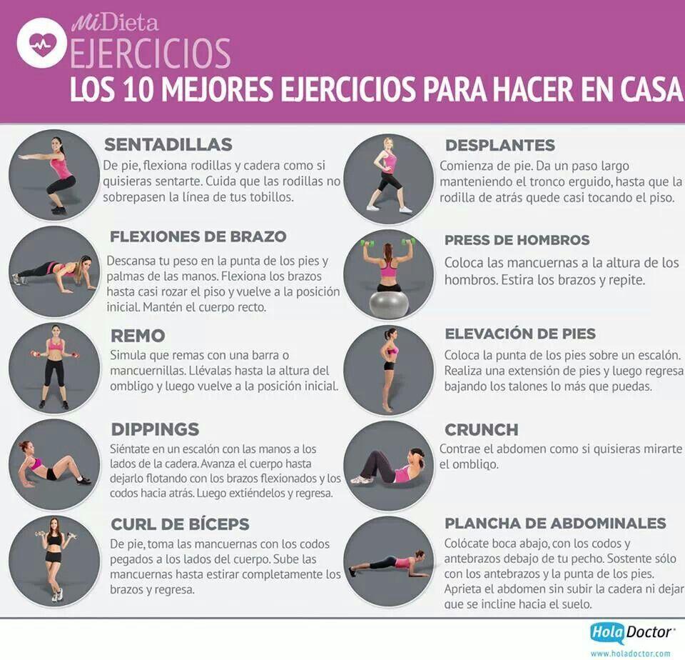 10 ejercicios para hacer en casa. | ejercicios y consejos