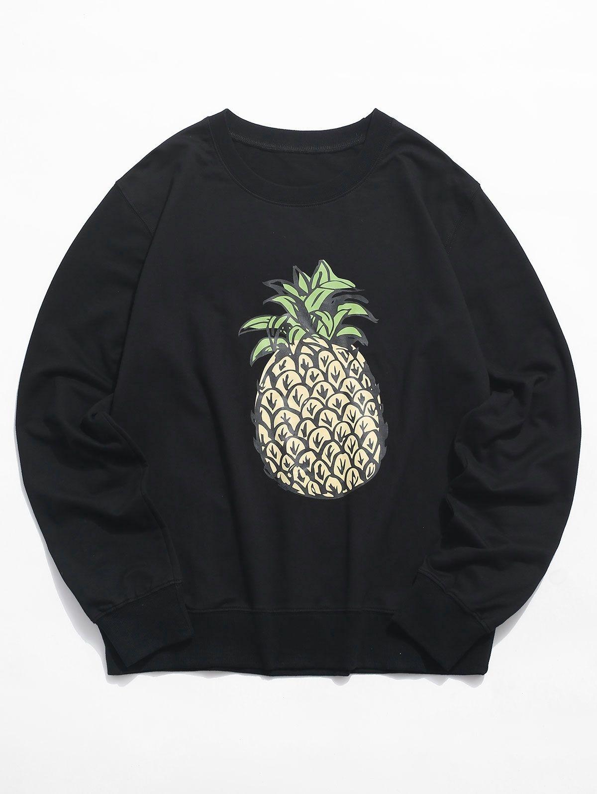 Pineapple Graphic Crew Neck Lounge Sweatshirt Black Ad Ad Crew Graphic Pineapple Neck Black In 2020 Sweatshirts Sweatshirt Fashion Black Sweatshirts [ 1596 x 1200 Pixel ]