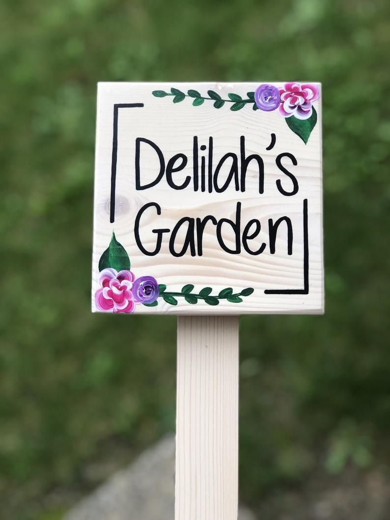 Etsy Personalized Garden Sign Google Search Garden Signs Etsy Personalized Garden