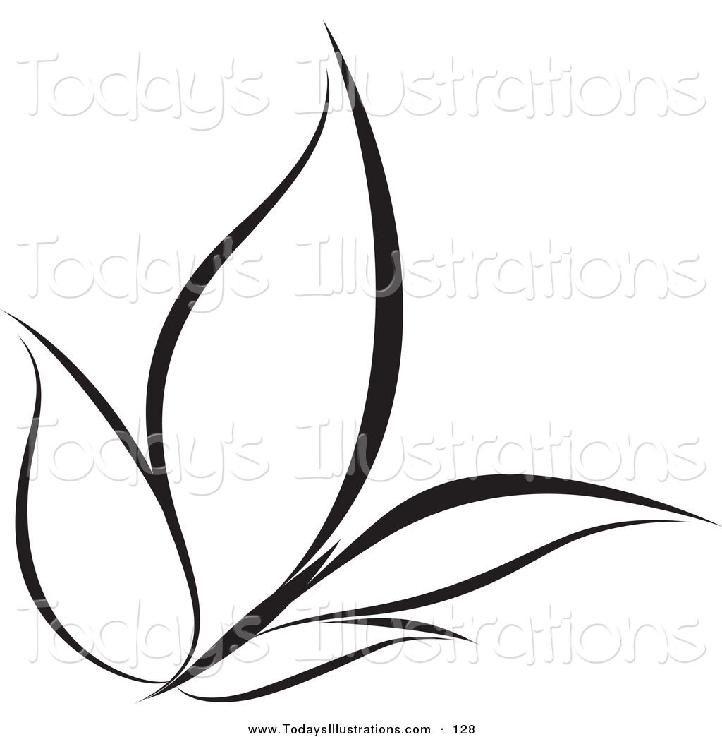 Royalty Free Black And White Butterfly Stock New Designs