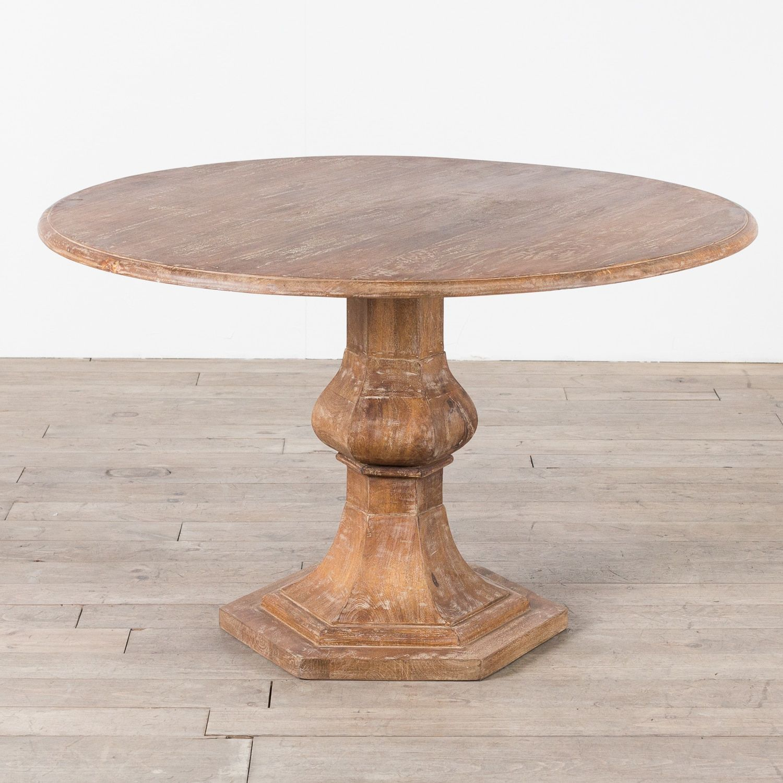 Handmade Mango Wood Round Table (India) (Mango Wood Round Table), Brown,  Patio Furniture