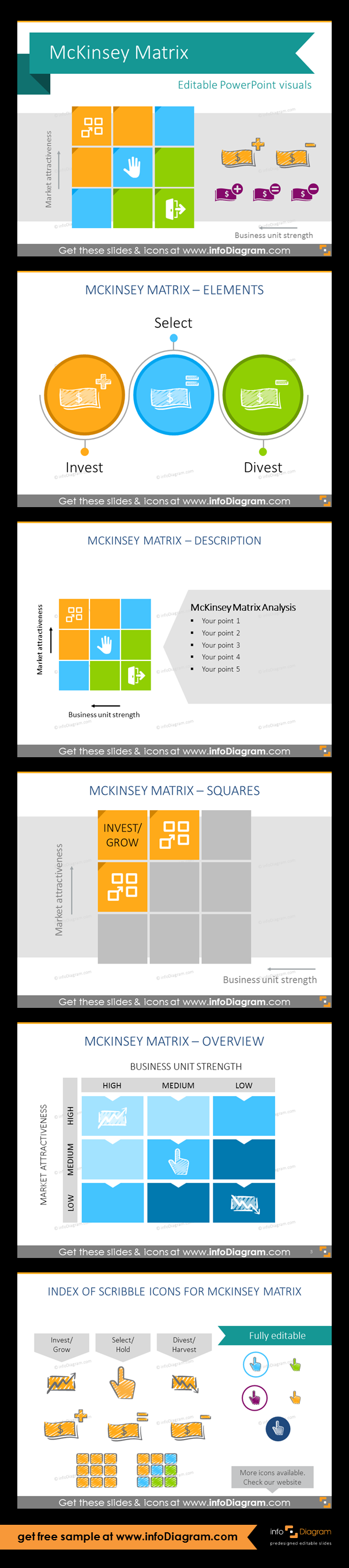 Mckinsey matrix framework diagram ppt template strategy and collection of mckinsey matrix so called ge matrix visual layouts as pre designed ccuart Image collections