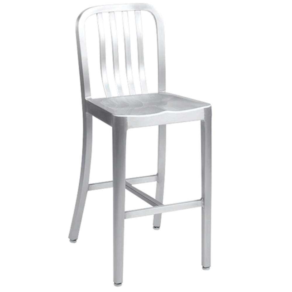 Brushed Aluminum Navy Bar Stool At Modaseating